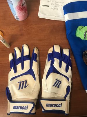 Barely used Marucci blue/ white batting gloves for Sale in St. Louis, MO