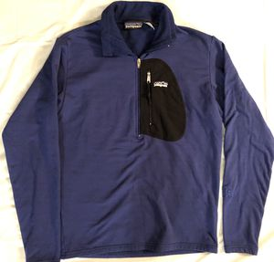 Patagonia Blue Half Zip Long Sleeve Thermal Shirt Mens Size Small S Winter for Sale in Valencia, CA
