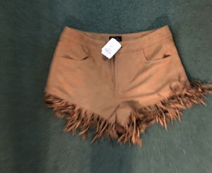 New suede fringe shorts size small for Sale in Baytown, TX