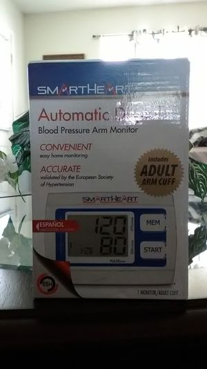 Smart Heart Automatic Digital Blood Pressure Arm Monitor for Sale in Frostproof, FL