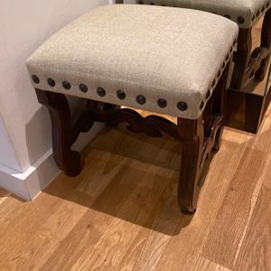 Upolstered Linen Footstool for Sale in Brooklyn, NY