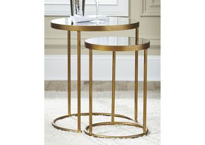 NEW, Majaci Gold Finish/White Accent Table (Set of 2), SKU# A4000048 for Sale in Westminster, CA