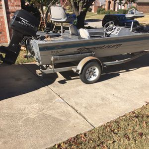 1996 Spectrum Aluminum Boat With 40hp Mercury Engine Runs Great Lake Ready for Sale in Plano, TX