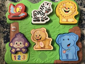 Musical puzzle, 4 shape puzzle and musical stack ( 3 Toys) for Sale in Natick, MA