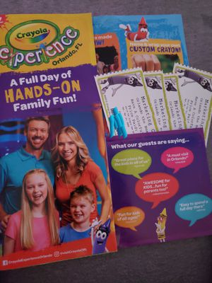 4 Crayola Experience tickets for Sale in Boynton Beach, FL