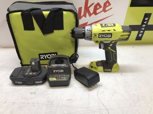 RYOBI 18-Volt ONE+ Lithium-Ion Cordless 1/2 in. Hammer Drill/Driver Kit with (1)1.3Ah Batteries, Charger, and Tool Bag for Sale in Bakersfield, CA