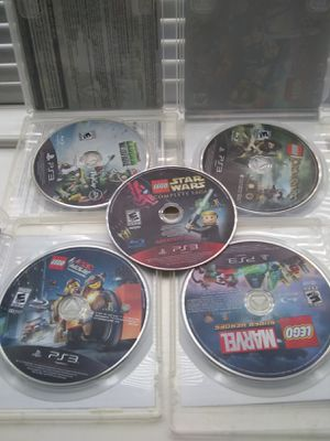5 videojuegos para PS3 Legó Atar wars Plantas zombies Legó Marvel Legó Lord Ringe for Sale in Houston, TX