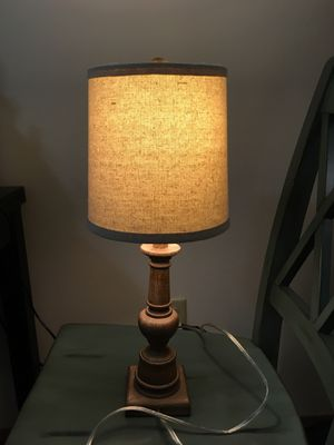 Small lamp with tan shade for Sale in Seattle, WA