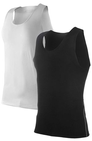 24 Men's 2 Pack Sleeveless Compression Muscle Tank Top Athletic Cool Dry Base Layer for Sale in Altadena, CA
