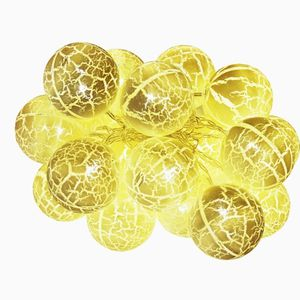 7.22Ft 20 LED Crack Ball String Lights, Battery Operated Indoor Outdoor Room Decor Fairy Lights for Valentine's Day, Home, Wedding, Garden, Christmass for Sale in La Habra, CA