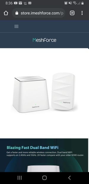 Meshforce m3 wifi router for Sale in Natick, MA