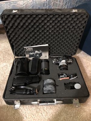 Canon Ae-1 with lenses (problem with body) for Sale in Bellevue, WA