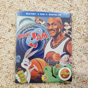 New, Sealed. Steelbook, Blu Ray/DVD Space Jam 20th Anniversary. for Sale in Northport, NY