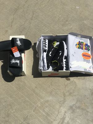 Nike X Stussy Collab Pack (Slides size 10) (Shoes size 10.5) for Sale in La Verne, CA