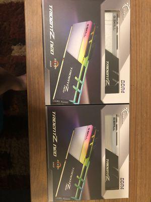 G.SKILL Trident Z Neo (for AMD Ryzen) Series 32GB (2 x 16GB) 288-Pin RGB DDR4 SDRAM Desktop Memory F4-3600C18D-32GTZN for Sale in Bothell, WA