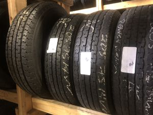 Matching set (4) ST 205 75 14 Trailer tires for only $38 each with FREE INSTALL!!! for Sale in Tacoma, WA