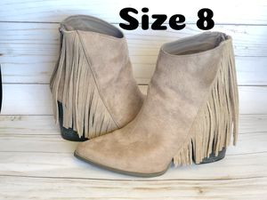 ♥️Used Once, Fringed Heeled Pointed Booties♥️ for Sale in Rochester, MN