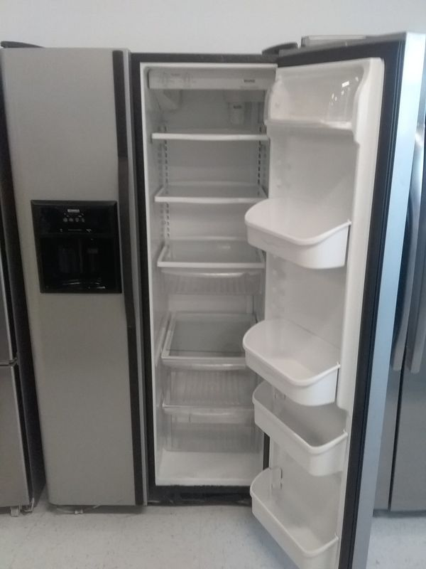 Kenmore side by side stainless steel refrigerator used good condition 90days warranty