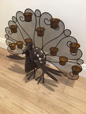 Decorative Fall Season Turkey (metal work) candle holder for Sale in Rancho Santa Margarita, CA