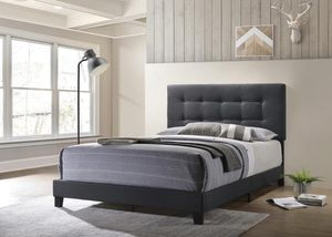 Dark gray king size bed frame for Sale in Chicago, IL