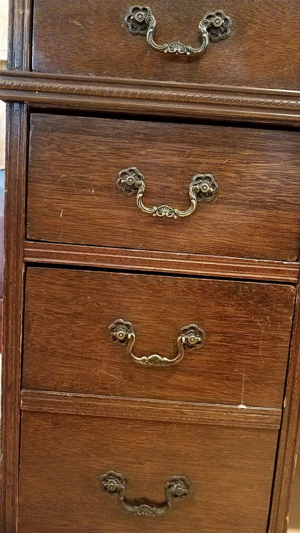 Antique desk, solid wood, all hardware, all functioning drawers. FREE