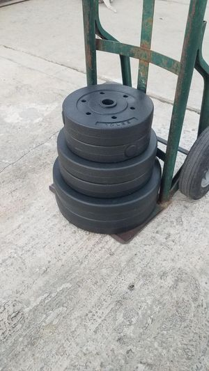 "Standard 1"" weight set 100 pounds 2x25lba 2x15lbs 2x10lbs for Sale in Montebello, CA"