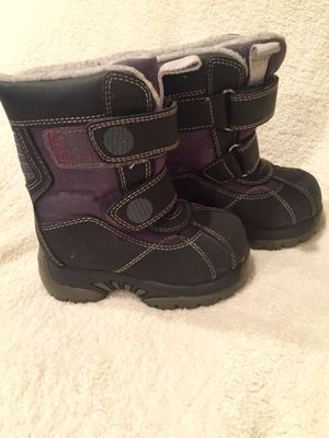 Sz 5 EUC Black Unisex (Girl / Boy) Snow Boots for Sale in Bountiful, UT