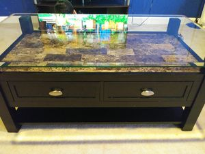 Brown marble coffee table for Sale in Manassas, VA
