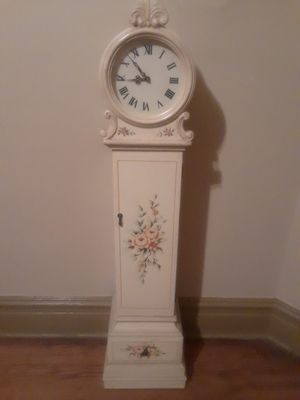 REDUCED Last day- Decorative floor clock with storage $10 for Sale in St. Louis, MO