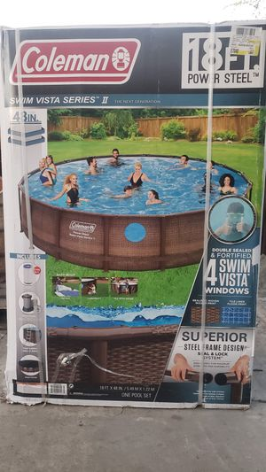 "Coleman 18' x 48"" Power Steel Swim Vista Series II Swimming Pool Set for Sale in Fresno, CA"