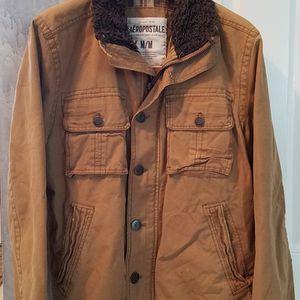 Aeropastle Grunge Sherpa Collard Tan Plaid Lined Men's Jacket for Sale in Smithtown, NY