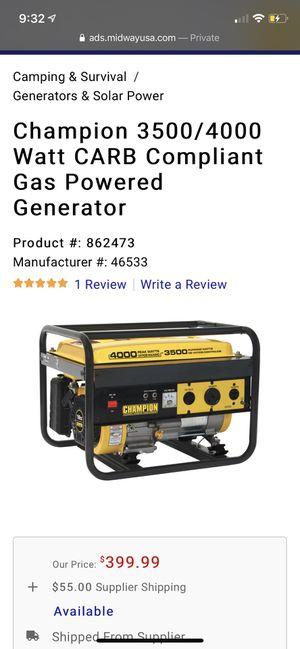 Brand new champion 3500/4000 watt Generator. for Sale in Boston, MA