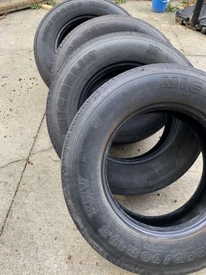 Michelin XRV tires 245/70R19.5 (quantity =6) for Sale in Marysville, OH