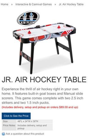 NEW AIR HOCKEY TABLE for Sale in Lynwood, CA