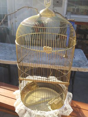 Vintage gold hanging bird cage for Sale in San Jose, CA