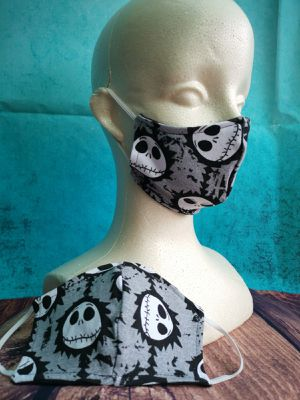 Kids Face mask, Facemask (nightmare before Christmas Jack Skellington): Hand made mask, reusable, washer and dryer safe. #halloween #Costume for Sale in Long Beach, CA