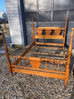 Maple Four Poster Double Full Sized Bed Frame for Sale in Wareham, MA