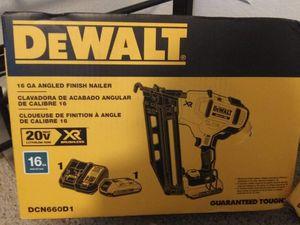 DEWALT 16 GA. NAIL GUN 20V Used once! for Sale in Tempe, AZ