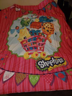 Twin size Shopkins Comforter reversible ~ standard pillow sham~ sheet set for Sale in Chula Vista, CA