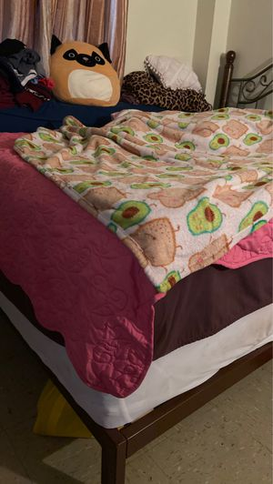 FREE! Full size bed frame and backboard and box spring for Sale in New York, NY
