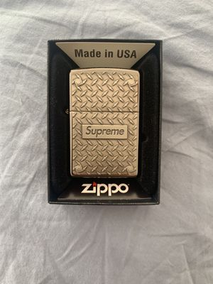 Supreme diamond plate zippo for Sale in New York, NY
