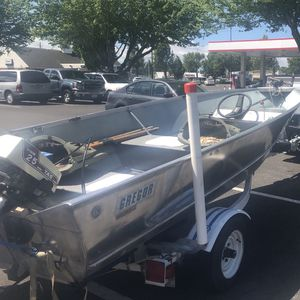 Gregor 15ft Aluminum Boat for Sale in Vancouver, WA