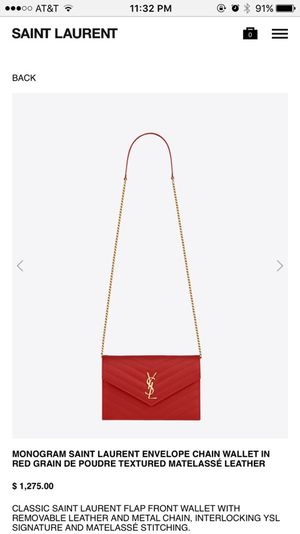YSL Chain Wallet for Sale in Chantilly, VA