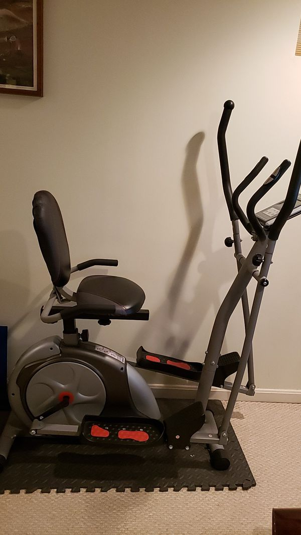 Body rider 3-in -1 Trio Trainer/Elliptical Upright Stationary, and Recumbent Exercise Bike All in One