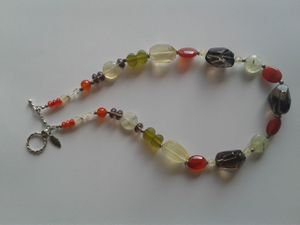 Chunky Gemstone Necklace in Sterling Silver for Sale in Woodbridge, VA