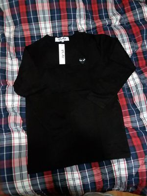 Comme des garcons black on black long sleeve tee size M for Sale in Cheyenne, WY