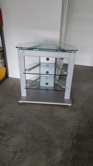 TV stand, glass modern for Sale in Puyallup, WA