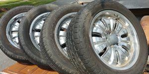 275/55/20 wheels & tires, Chevy Truck 5 lug for Sale in Loxahatchee, FL