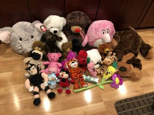 Various stuffed animals. Most have tags for Sale in San Jose, CA