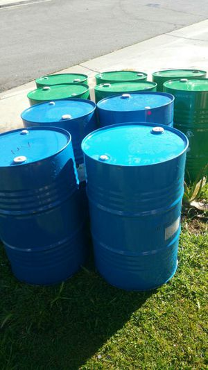 55 gallon metal drums $15 each FOID GRADE no chemical for Sale in Rosemead, CA